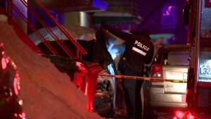 Montreal police are investigating after a body was found inside a burned vehicle in the Town of Mount Royal.