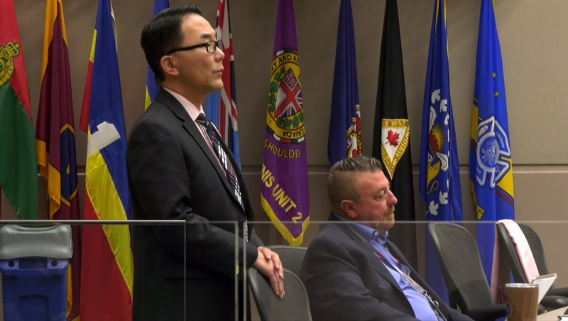 Ward 4 councillor Sean Chu (left) is one of two councillors calling for a forensic audit of all council members in response to concerns over Joe Magliocca's expenses (file)