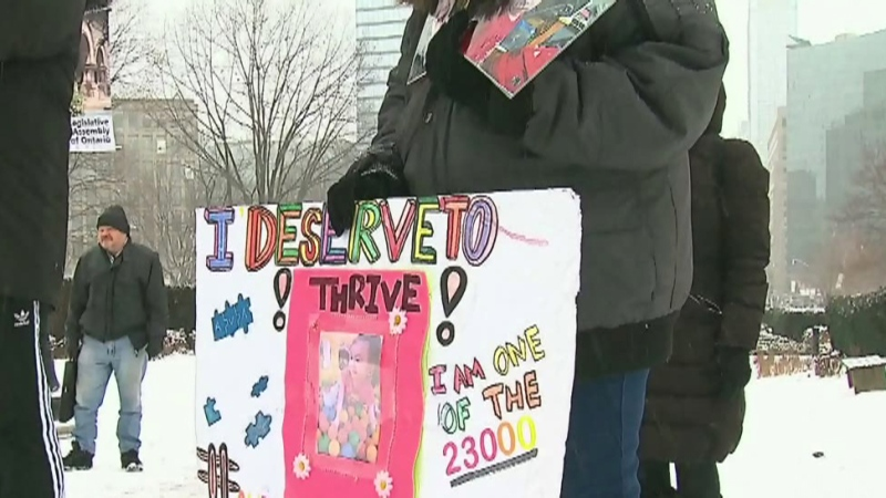 Protesting changes to Ont. autism program