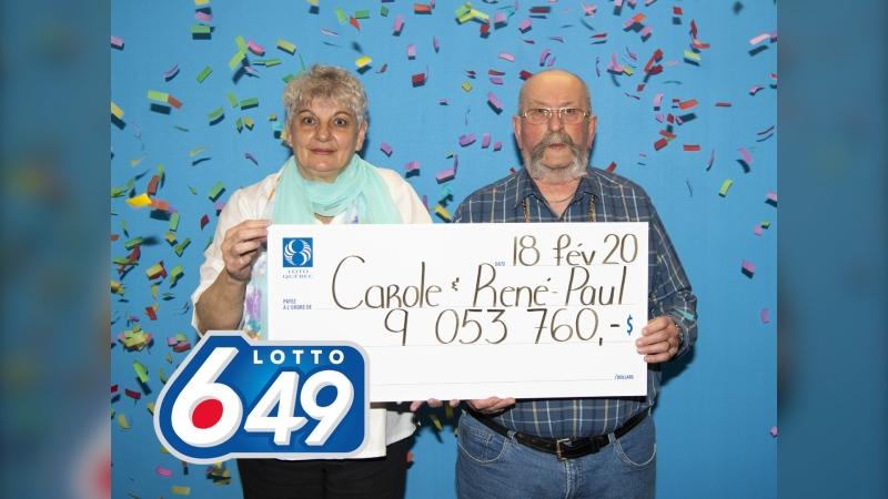 Carole Champagne Gagné and René-Paul Gagné. (Photo: CNW Group/Loto-Québec)
