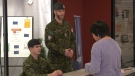 Reservists from The Algonquin Regiment in Timmins set up an information booth today at Northern College to meet with potential recruits.  (Feb 18. 2020)(Lydia Chubak/CTV northern Ontario)