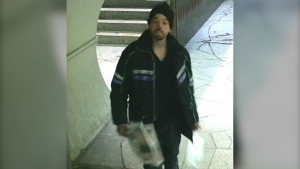 Montreal police released this image of a man suspected of assaulting a woman in Beaubien Metro station on Feb. 13, 2020.