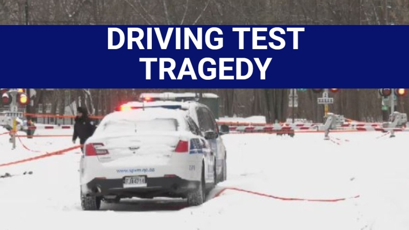 Fatally struck by train during his driving test