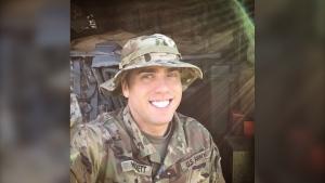 Adam Hockett in his American military uniform. (Provided)