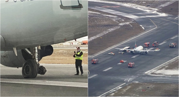Toronto-bound Air Canada flight declares emergency after wheel falls off during take-off