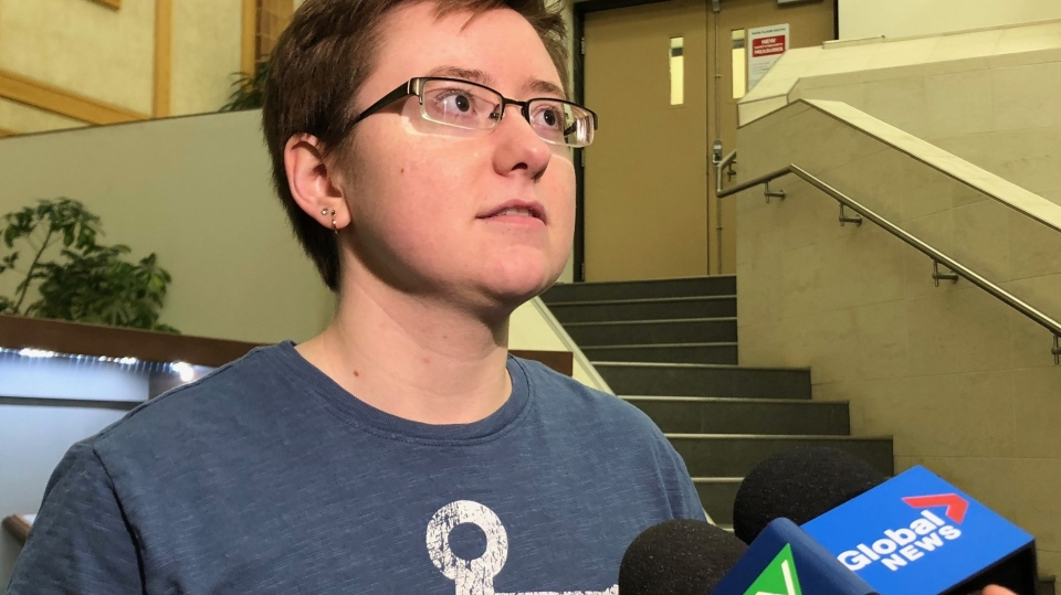 Charlie Klassen speaks to reporters on Feb. 18, 2020. (Francois Biber/CTV Saskatoon)