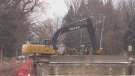 Port Bruce bridge under construction