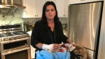 Barrie realtor Carrie Stiles says she was viciously attacked by a dog injuring her hand on Sun., Feb. 16, 2020. (Aileen Doyle/CTV News)