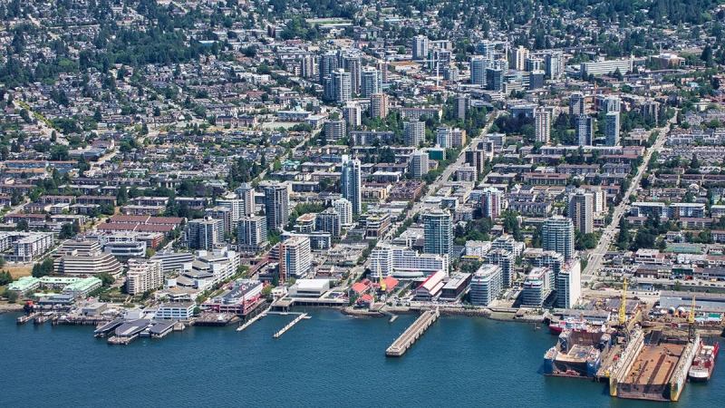 North Vancouver is seen from the air in June 2019. (Pete Cline / CTV News Vancouver)