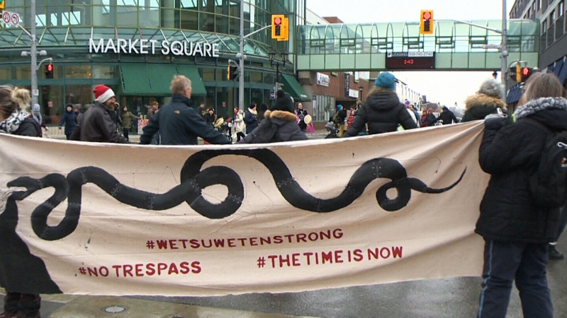 Pipeline protests in Kitchener and Guelph