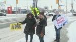 Protesting autism funding