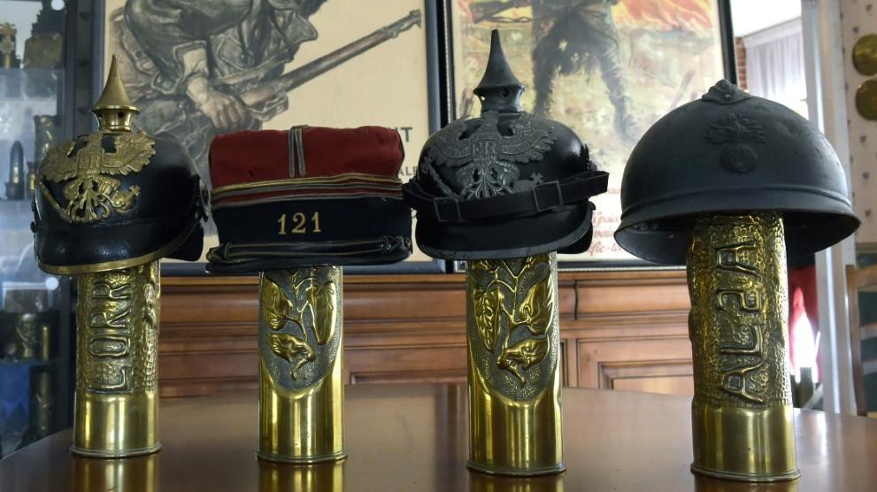WWI helmet study