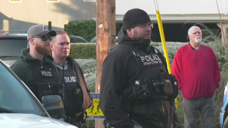 Three arrested outside B.C. premier's home