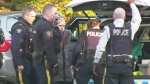 Premier's home targeted by protesters