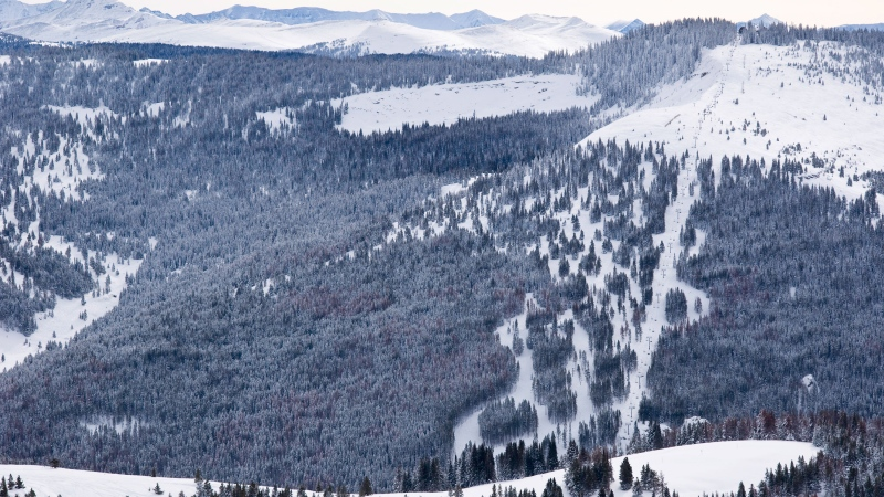 A skier in Colorado died after his coat became wrapped around his head and neck on the chair lift, according to the company that operates the chair lift. It happened at the Blue Sky Basin in Vail, Colo. (Adventure_Photo/iStockphoto/Getty Images/CNN)