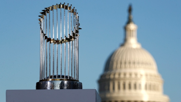 MLB commissioner apologizes for calling World Series trophy 'a piece of metal'