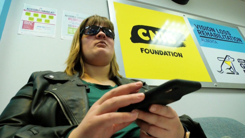 The CNIB in Calgary has launched a campaign to get smartphones to the blind.