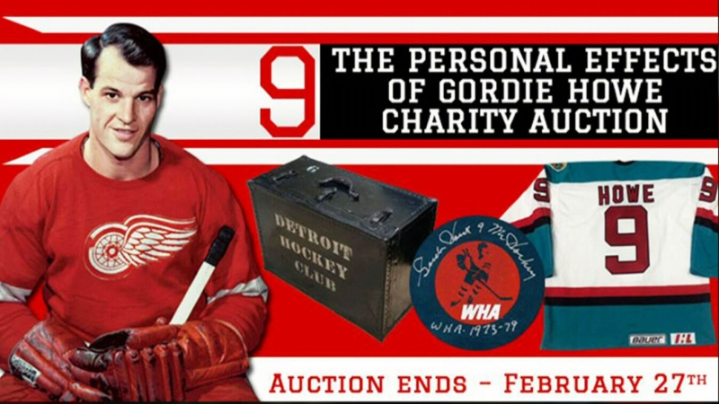 Gordie Howe items featured in auction