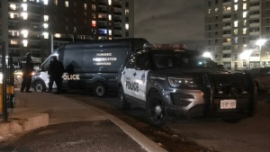 Police are investigating a shooting in Etobicoke's Willowridge neighbourhood. (Michael Nguyen/ CP24)