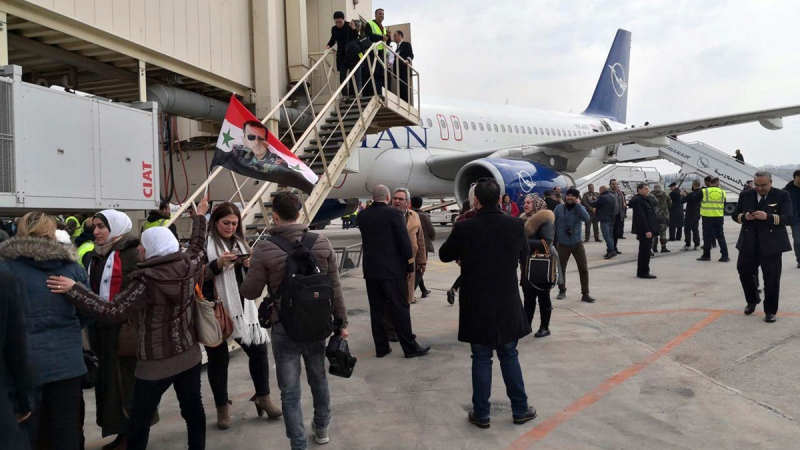 Syria's Aleppo airport resumes flights for 1st time in years