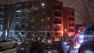 A fire forced the evacuation of about 100 residents from a seniors' residence in Mercier-Hochelaga-Maisonneuve.