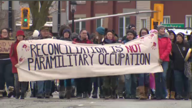 Wet'suwet'en solidarity protests in Guelph & Kitchener