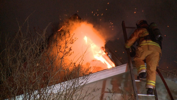 No injuries in fire that destroyed home in North Central