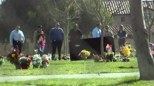The bodies of three men found dead near a cemetery in Southern California have been identified, the Riverside County Sheriff's Department said. (KCAL/KCBS)