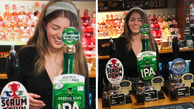 Born in a pub, Canadian teen goes back for her first pint 18 years later