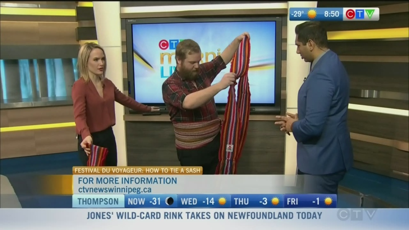 How to tie a voyageur sash