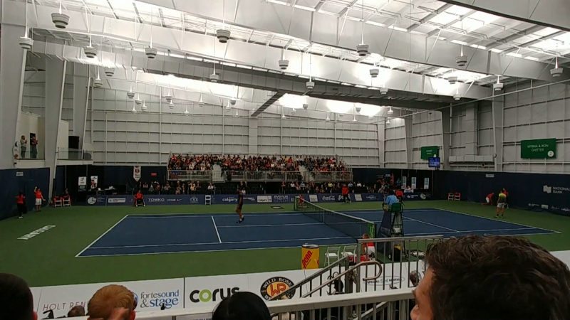 Osten and Victor Alberta Tennis Centre hosts Calgary National Bank Challenger this month.
