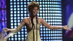 Whitney Houston performs at the 2004 World Music Awards in Las Vegas, on Sept. 15, 2004. (Eric Jamison / AP)