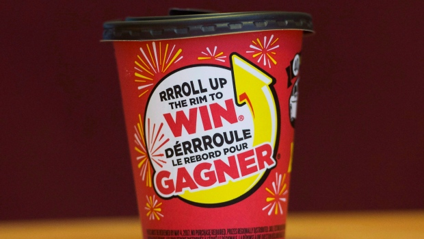 How does the new Tim Hortons Roll Up The Rim contest work?