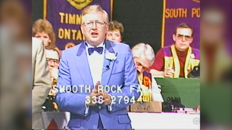 Archival footage of Don Dewsbury from Timmins telethon. (CTV Northern Ontario)