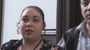Santina Rao appears in Halifax provincial court on Feb. 19, 2020. She is accused of resisting arrest and assaulting a police officer during an altercation at a Walmart in January 2020. Rao alleges she was racially profiled and accused of shoplifting.