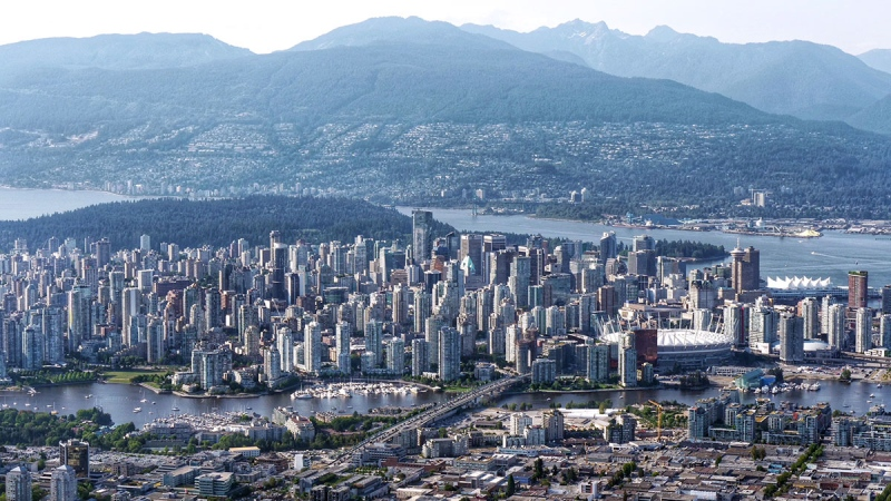 Downtown Vancouver is seen from the air in this 2019 photo from CTV News Vancouver's Gary Barndt.