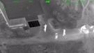 Aerial video of laser strike suspect's arrest