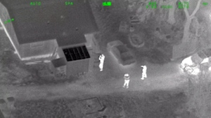 Aerial video of laser strike suspect's arrest