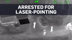 Laser hits highway patrol pilot, suspect quickly a