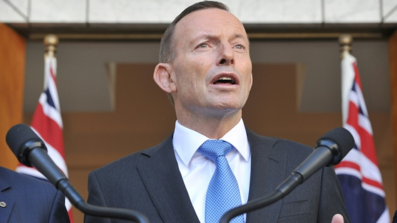 In an excerpt from a Sky News documentary, Abbott claims he was told within a week of the plane vanishing that Malaysia believed the captain had intentionally downed the jet. (AFP)