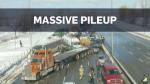Massive pileup south of Montreal, dozens injured