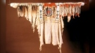 A Blackfooot buckskin shirt that once belonged to Chief Crowfoot.