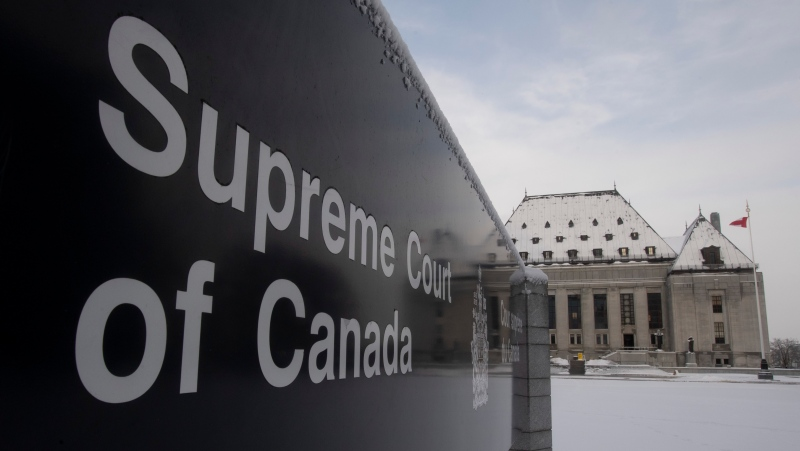 "The Supreme Court of Canada is seen, Thursday January 16, 2020 in Ottawa. A Supreme Court of Canada decision could affect whether government lawyers can use confidential documents to defend their reputations if political bosses ""throw them under the bus,"" a law professor says. The top court is to rule Thursday on whether it will hear an appeal of a case involving Alex Cameron, a former lawyer with the Nova Scotia Department of Justice seeking to sue Premier Stephen McNeil and the former justice minister for defamation. (THE CANADIAN PRESS/Adrian Wyld)"
