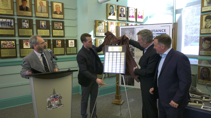The Ottawa Sports Hall of Fame inducted new members on Wednesday. (Christopher Scott/CTV Ottawa)