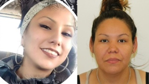 RCMP have issued warrants for the arrest of Venessia Cardinal (left) and Bobby Auger (right) in connection to the attempted murder of a 26-year-old man in a northern Alberta First Nation on Feb. 12, 2020. (RCMP)