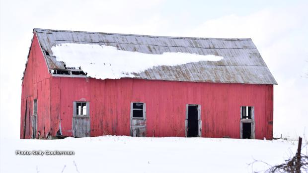 Rickety old barn near Elgin ,Ontario on Sunday, Feb. 16. (Kelly Coulterman/CTV Viewer)