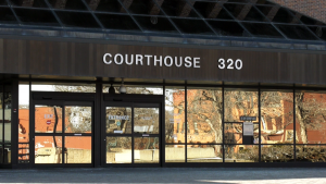 The Lethbridge courthouse where accused Gary Lippa surprised the court by pleading guilty to three charges Wednesday.