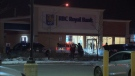 Emergency crews are called to a RBC in Markham after receiving reports of a robbery.
