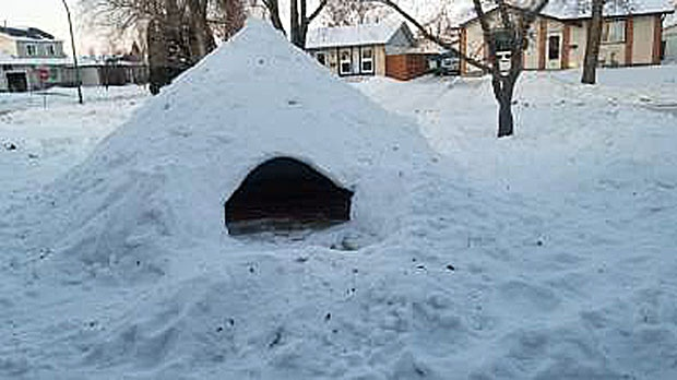Snow fort. Photo by Dan Timmerman.