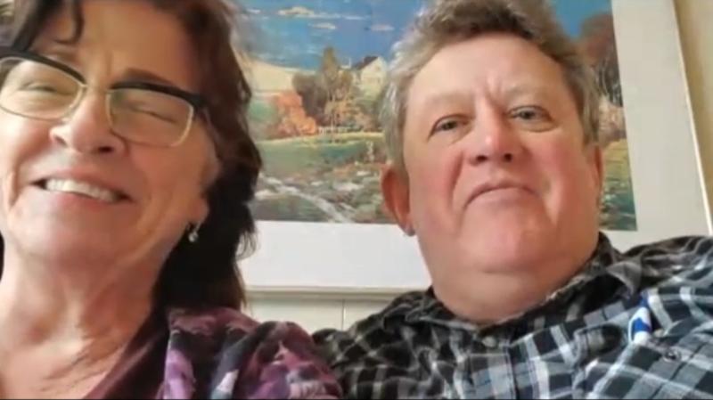 Jenny and Mark Rodrigue speak to CTV News Edmonton via Skype on Feb. 19, 2020.